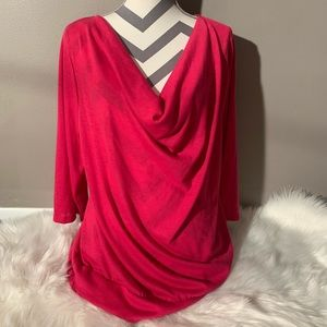 Ashley Stewart Size 18/20 Hot Pink Top Length 27""